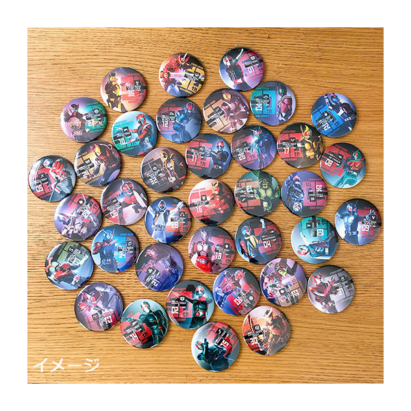 【仮面ライダーストア】仮面ライダー生誕50周年記念 トレーディング缶バッジコレクションC(全13種)<オールライダー>